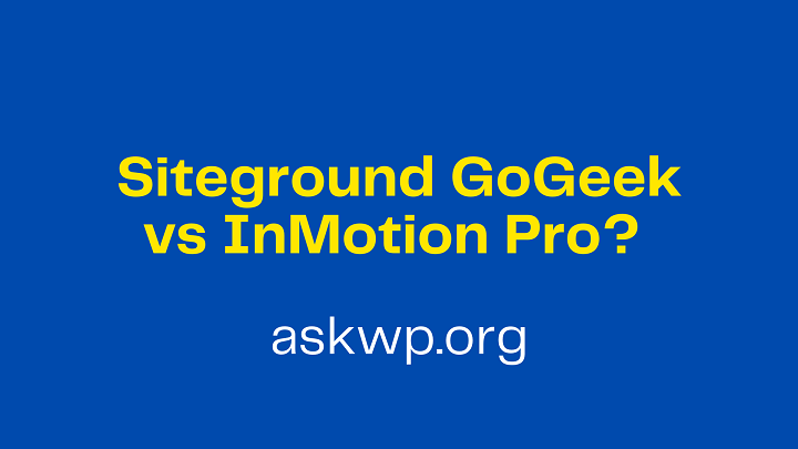 Siteground vs InMotion