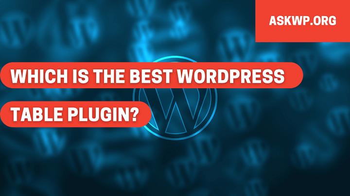 Tablepress WordPress Plugin